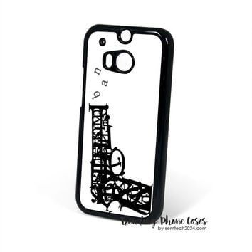 Pistol Bang Typhography  HTC One M8 Case Cover for M9 M8 One X Case