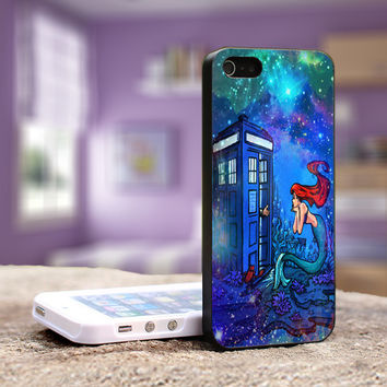 Doctor Who Meets Disney Tardis and Ariel Little Mermaid Galaxy Nebula - iPhone 4, 4S , 5, 5S 5C,Samsung S3, S4,S3,S4 mini and iPod 4, 5 Case