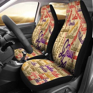 Custom-Made Holy Bible Books Light Brown Car Seat Cover