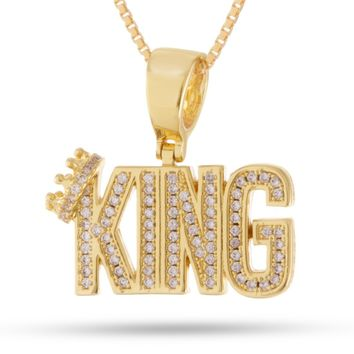 Snoop Dogg x King Ice - The Mini Crowned King Necklace (.925 Sterling Silver)