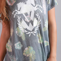 wildfox: oversized tee - palm springs