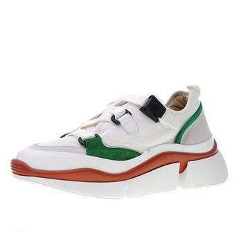 """Chloé Sonnie Low Top Sneaker """"White Green Red"""" CHC18A05021"""