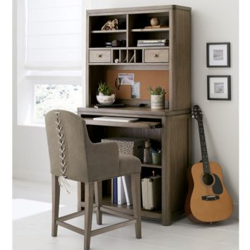 6810 Big Sky - Complete Desk/Hutch with Slip Cover Arm Chair