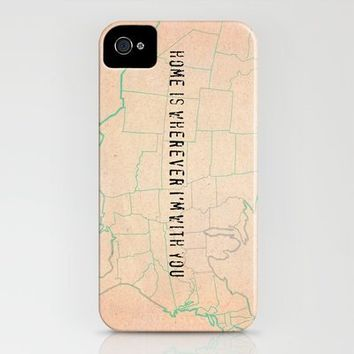 Home is wherever I'm with you iPhone Case by Mursblanc | Society6