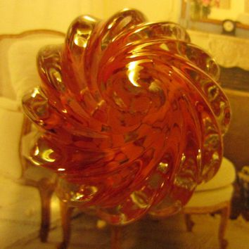 Orange Studio Glass Paperweight Artist Signed 2003