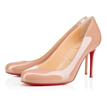 Christian Louboutin CL Fifi Nude Patent Leather 85mm Stiletto Heel Classic Best Deal Online