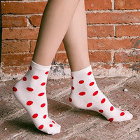 Unique 5Pcs Dots Socks Gift 01