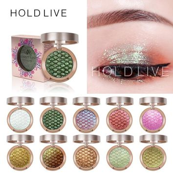 HOLD LIVE 10Colors Sunset City Eyeshadow Palette 2018 New Pigment Shine Gold Green Pigment Glitter Eye Shadow Pallete Makeup Set
