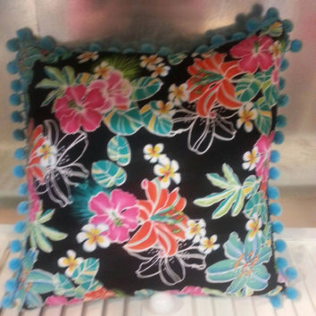Decrative Pillow Vibrant Hawaiian