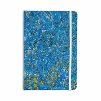 """Bruce Stanfield """"Marbled Blue And Gold"""" Blue Gold Painting Everything Notebook"""