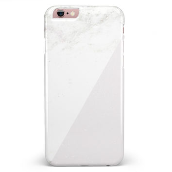 White and Neutral Marble Slab iPhone 6/6s or 6/6s Plus INK-Fuzed Case