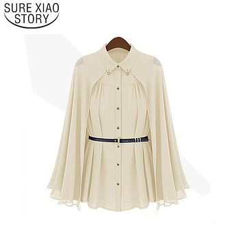 2017 Fashion Blusas Leisure Women shirts Shawl Cape-Style Chiffon Blouse Sun Protection Clothing Blusas Femininas 980C 20