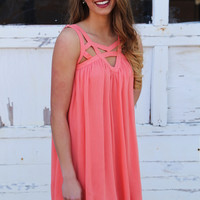 Made For You  Dress {Coral}