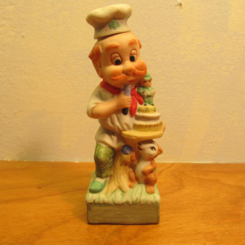 Vintage Homco Baker Figurine 1978 Made in Taiwan