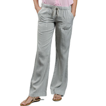 Bella Dahl Wide Leg Grey Tencel Pant