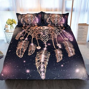 Evil Eye Dream Catcher Bedding Set