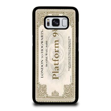 HARRY POTTER TICKET Samsung Galaxy S3 S4 S5 S6 S7 Edge S8 Plus, Note 3 4 5 8 Case Cover