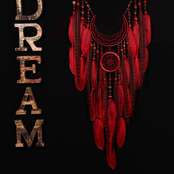 Arrow Dreamcatcher Moon Dreamcatcher red dreamcatcher Fire dreamcatcher copper dream catchers native american Indian talisman boho decor