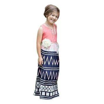 Kids Dresses for Girls Clothes Summer Toddler Beach Long Dress with Printed Baby Girl Clothes Maxi Dress Infantil Menina