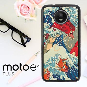 Pokemon Great Waves Painting X4140 Motorola Moto E4 Plus Case