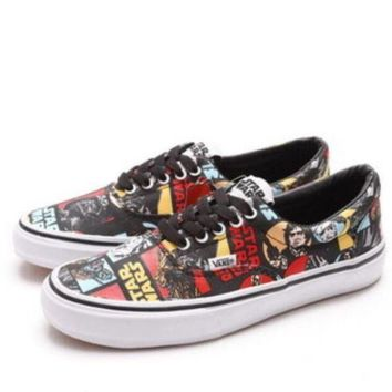 DCCKBWS Vans Star Wars bands Women Men Sneakers Convas Casual Shoes Print I-FEU-SY