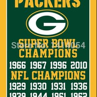 Green Bay Packers super bowl champions Vertical Flag