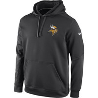 Minnesota Vikings Nike KO Chain Fleece Pullover Performance Hoodie – Charcoal