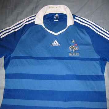 Sale!! Vintage Adidas France Home Soccer Jersey Zidane Football Shirt Size XL Free US