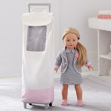 Canvas Rolling Doll Carrier From Pottery Barn Kids