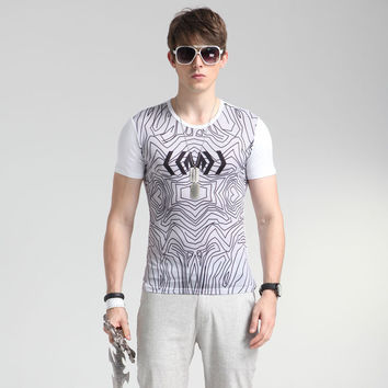 Stylish Fashion Tee Strong Character Print 3D Men's Fashion Short Sleeve T-shirts = 6450467523