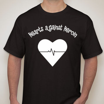 Heroin Awareness Hearts Over Heroin Shirt