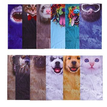 Outdoor Sports Face Mask Animal Pattern Cycling Breathable Protective Face Mask Neck Warmer Scarf Camping&Hiking Scarves