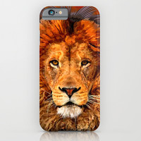 Old Lion Digital Art painting iPhone 4 4s 5 5c 6, pillow case, mugs and tshirt iPhone & iPod Case by Three Second