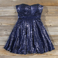 Wishing Star Party Dress in Navy