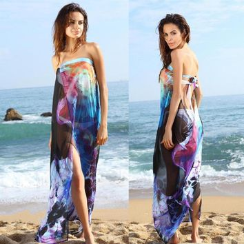 Floral Tie Dye Cover up