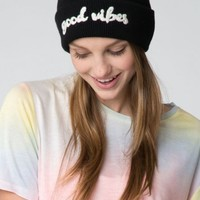 GOOD VIBES EMBROIDERY BEANIE