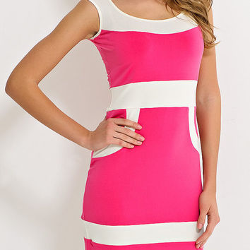 Bright elegant summer dress with no sleeves