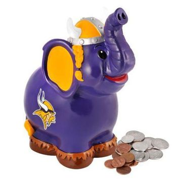 CREY6F Minnesota Vikings NFL Thematic Elephant Coin Bank