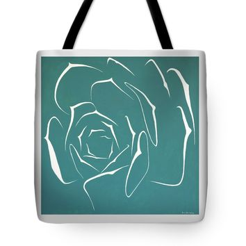 "Succulent In Turquoise Tote Bag for Sale by Ben Gertsberg (18"" x 18"")"