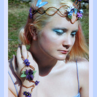 High Summer Faerie Queen Floral Arm Cuff
