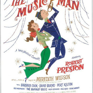 The Music Man 11x17 Broadway Show Poster (1957)