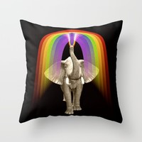 Blow Me A Rainbow Throw Pillow by Inspired Images