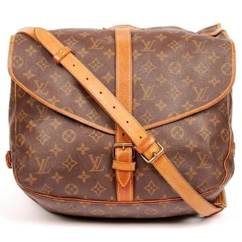 Louis Vuitton Saumur 35 Brown Messenger Bag 5238 (Authentic Pre-owned)