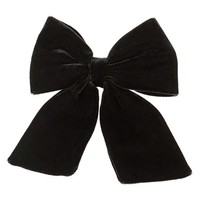 Women's Topshop Velvet Hair Bow - Black