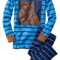 Boy's Hanna Andersson 'Star Wars - Chewbacca' Organic Cotton Two-Piece Fitted Pajamas (Nordstrom Exclusive)