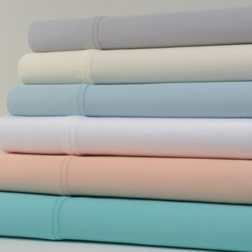 Kathy Ireland Home 1200 Thread Count Cotton Rich Bed Sheets 6 Piece Set - 6 Colors