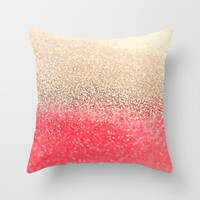 *** GATSBY CORAL GOLD ***  Throw Pillow by Monika Strigel *** GET THE SPRING ***
