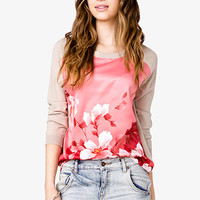 Floral Raglan Sweater