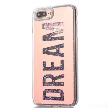 DREAM Flowing Quicksand Glitter Glam Case For iPhones