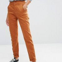 ASOS TALL High Waisted Peg Trousers at asos.com